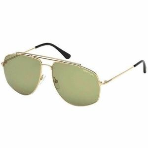Tom Ford Georges Sunglasses Green Lens